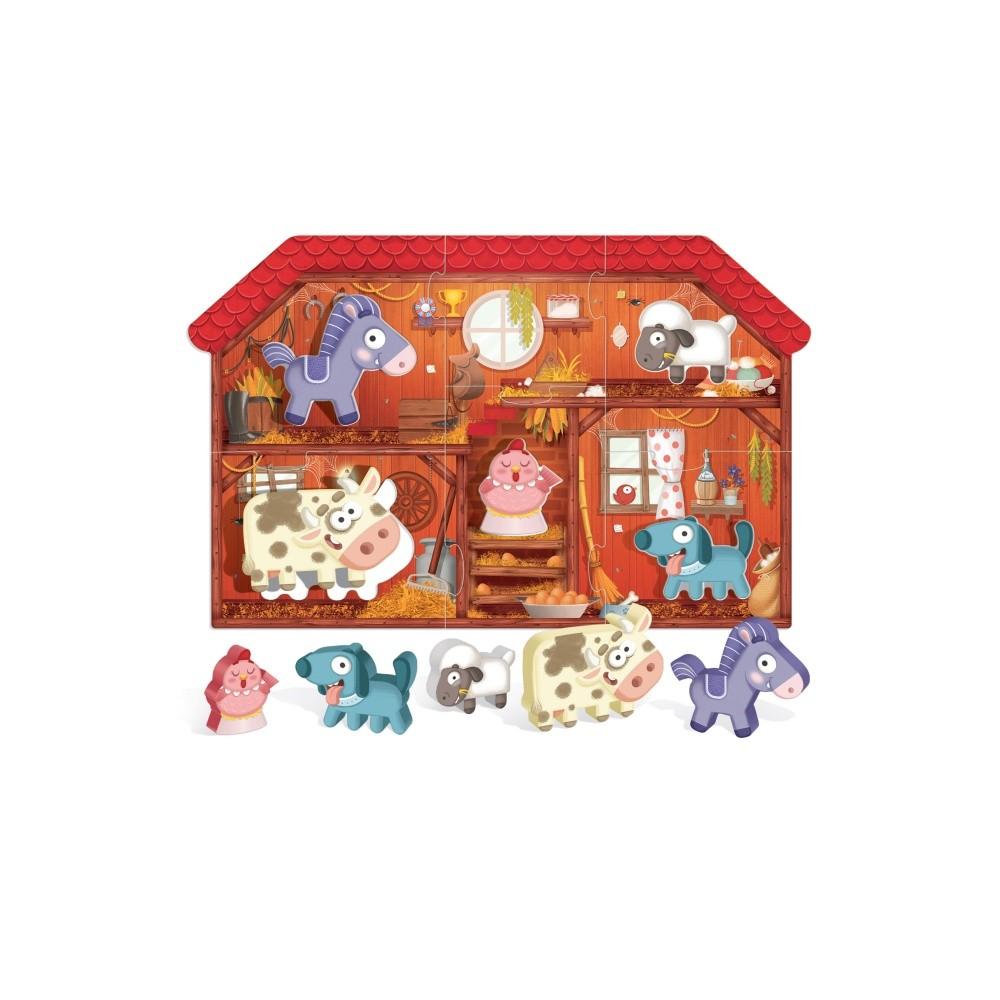 Montessori - Primul meu puzzle Ferma - Headu - 4