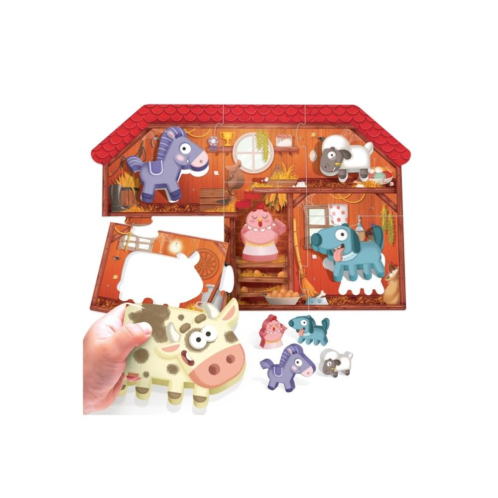 Montessori - Primul meu puzzle Ferma - Headu - 2