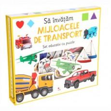 Să învățăm mijloacele de transport. Set educativ cu puzzle