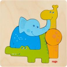 Puzzle din lemn - Animale de la Zoo
