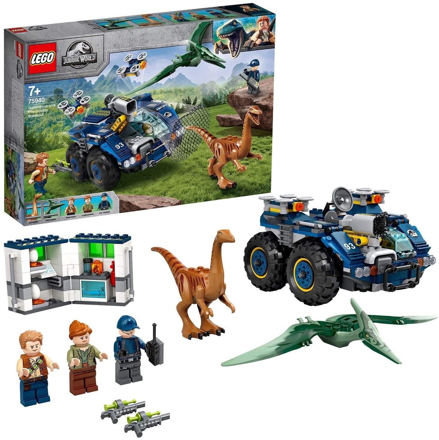 LEGO_Jurassic_World_Evadarea_lui_Galilmimus_si_Pteranodon_LEGO_75940_1