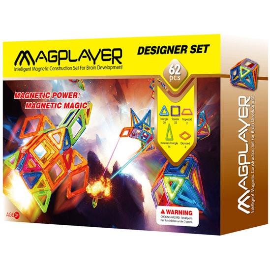 Construcţii magnetice - Designer - set 62 piese - Magplayer
