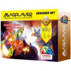 Construcţii magnetice - Designer - set 62 piese