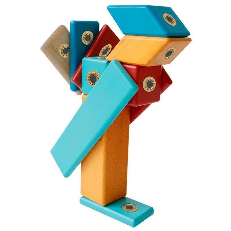 Construcţii magnetice din lemn - set 14 piese - Magplayer 3
