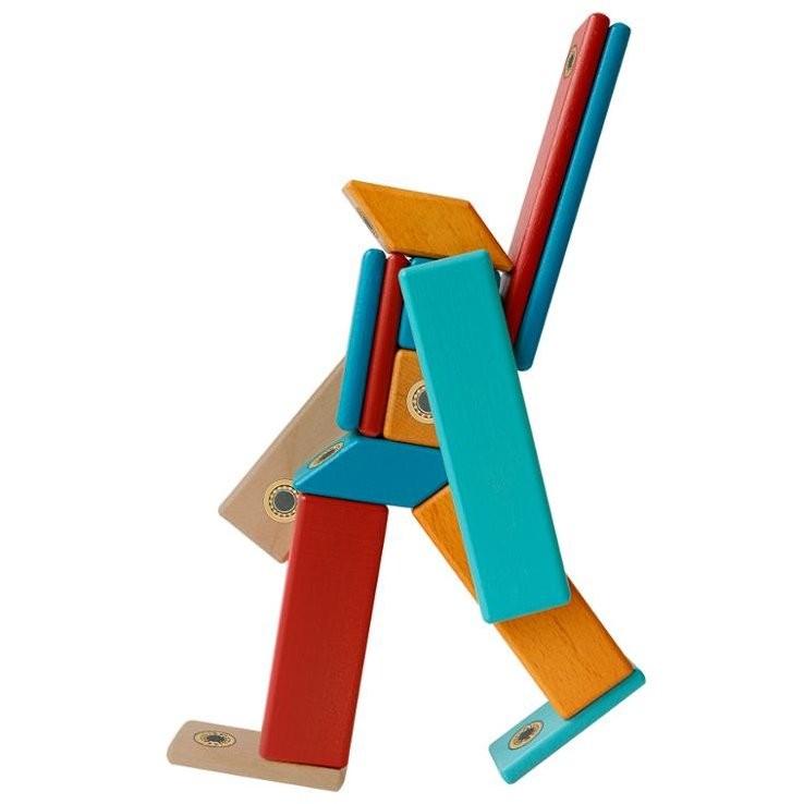 Construcţii magnetice din lemn - set 14 piese - Magplayer 6