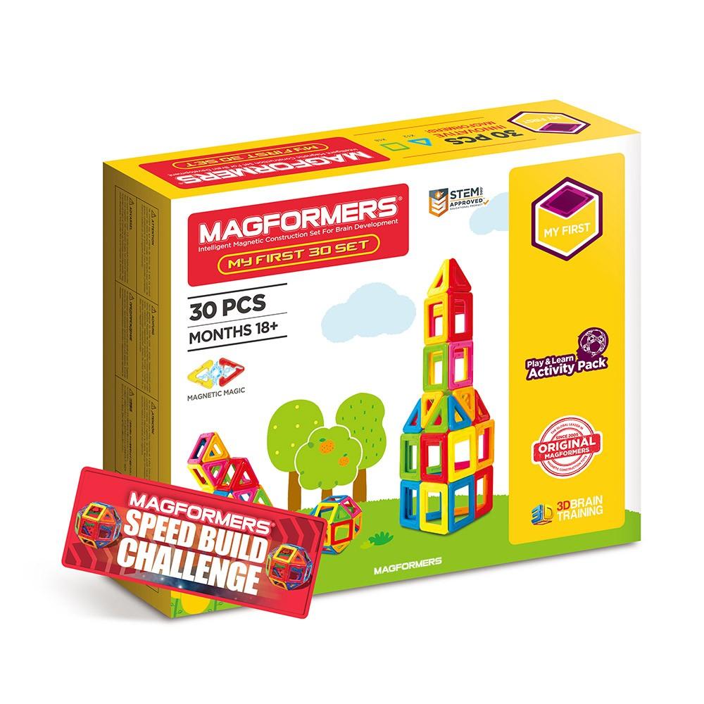 Magformers - Set magnetic de construit - Set de bază 30 piese 1