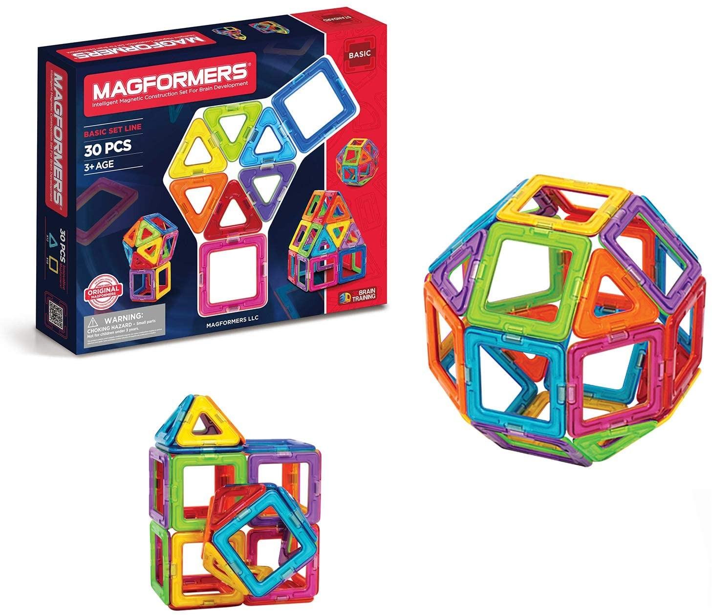 Magformers -Set magnetic de construit - Basic 30 - 1