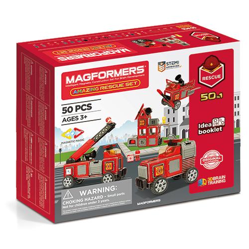 Set magnetic de construit - Vehicule de intervenție - Magformers 1