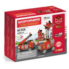 Magformers - Set magnetic de construit - Vehicule de intervenție