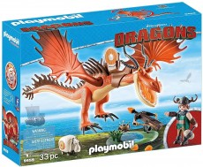Snotlout si Hookfang - Playmobil Dragons - PM9459