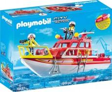 Barca de salvare a pompierilor - PLAYMOBIL - City Action - PM70147