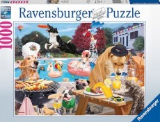 Puzzle - Catei la piscina - 1000 piese - Ravensburger