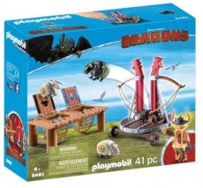 Gobber si lansatorul de oi - Playmobil Dragons - PM9461