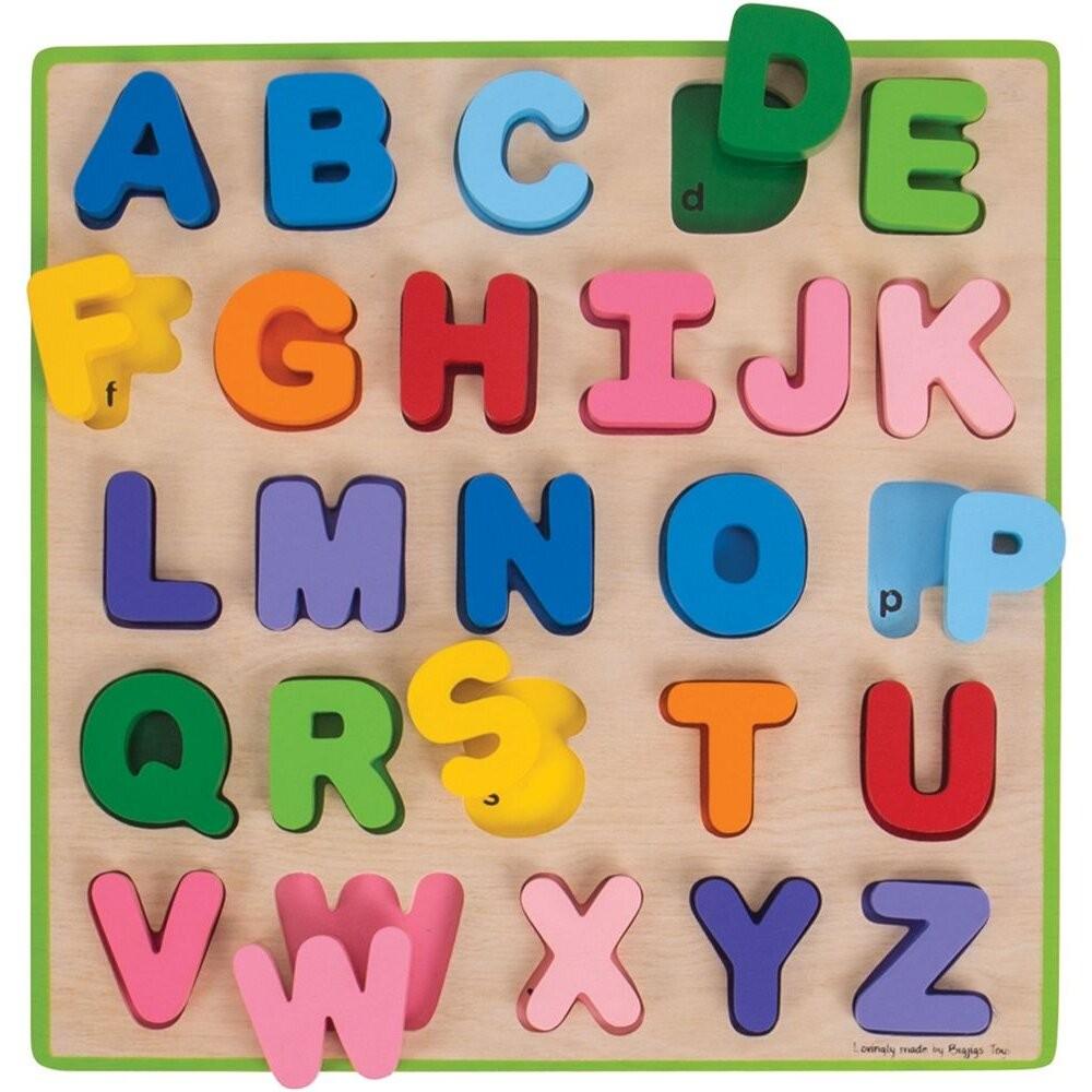 Puzzle colorat - Alfabet - Bigjigs 3