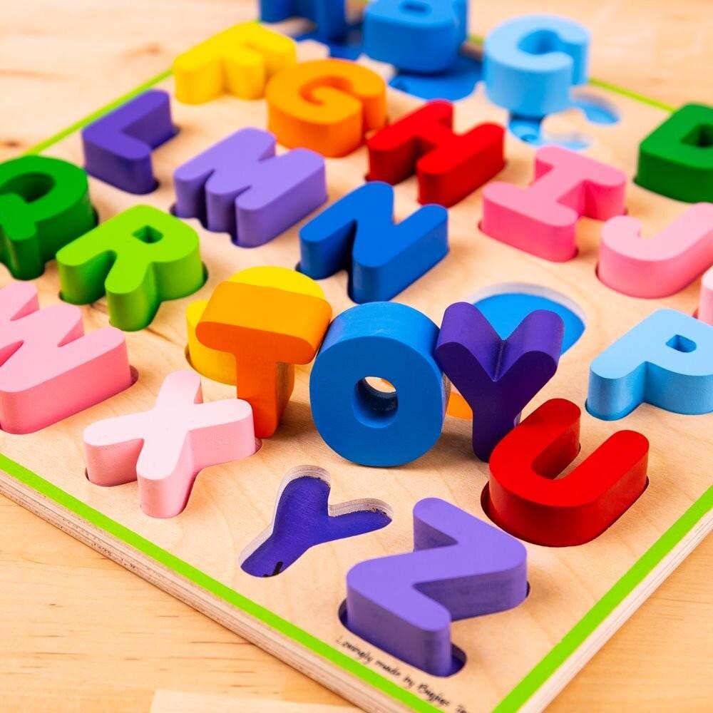 Puzzle colorat - Alfabet - Bigjigs 4