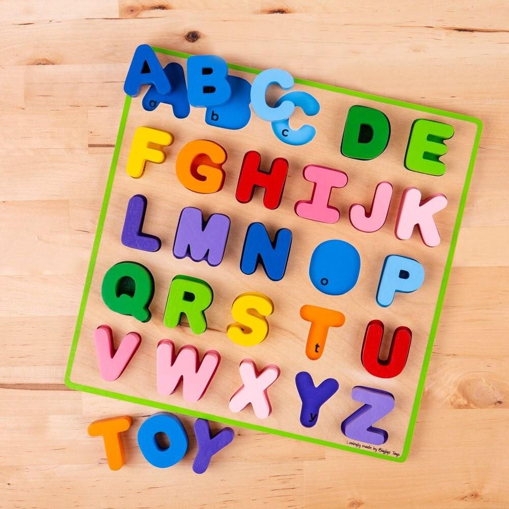 Puzzle colorat - Alfabet - Bigjigs 5