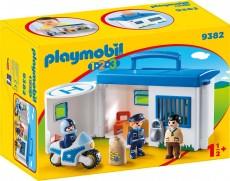 Set Mobil Statie De Politie - Playmobil 1.2.3. - PM9382