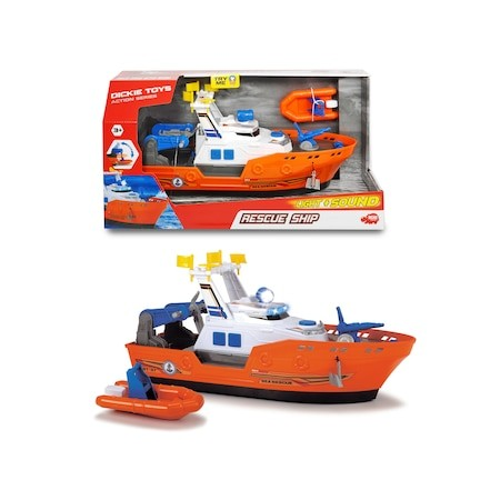 Vapor de salvare cu șalupă, cu sunete și lumini - Dickie Toys 2