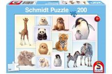 Puzzle - Puii de animale salbatice - 200 de piese